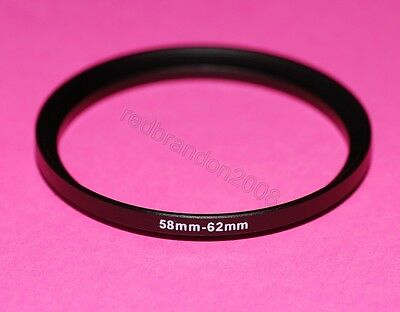 58mm to 62mm Step Up Adapter Ring Converter Holder 4 Camera UV Filter Lens 58 62