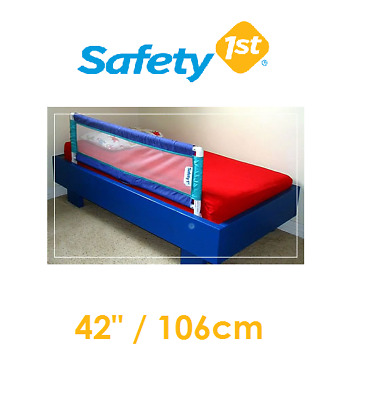 "USED SAFETY 1ST 2 x Baby Toddler Bed Rail 42"" 106cm Foldable Portable Guard"