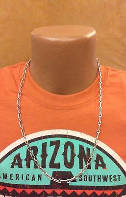 Native American Handmade Navajo Chain Necklace - Sterling Silver - 18g