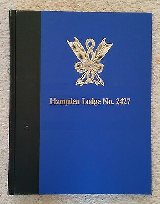 Masonic Skeleton Minute Book personalised with gold foil blocking