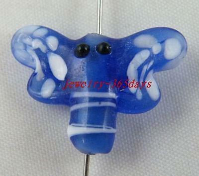 20pcs Handmade Lampwork Glass Dragonfly Spacers 24x18mm P437