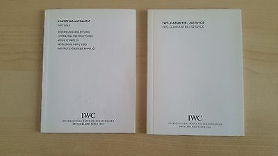 Iwc Booklet Operating Instructions For Portofino Automatic Ref. 3563