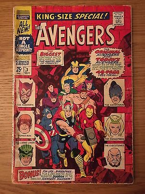 The Avengers Annual #1 Sep 1967 Marvel Comics. King-Size Special