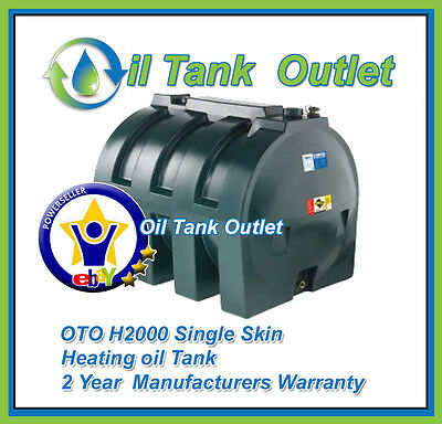 OTO Domestic Heating Oil Storage Tank  ~ H2000ltrs Single Skin