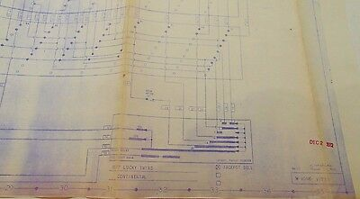 Continental Slot Machine Lucky Twins Large 1 Sheet Wiring Schematic