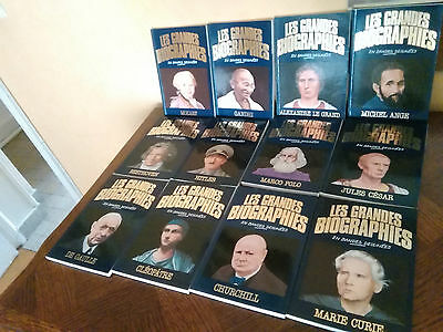 "Lot de 12 BD "" LES GRANDES BIOGRAPHIES """