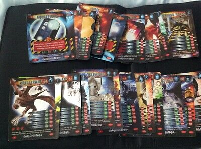doctor who battles in time card, 28 rare exterminator cards