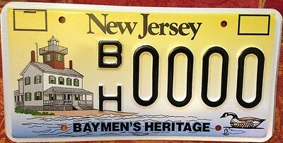 New Jersey Baymen license Plate Sample Lighthouse Duck Sea Hunt Hunting fishing