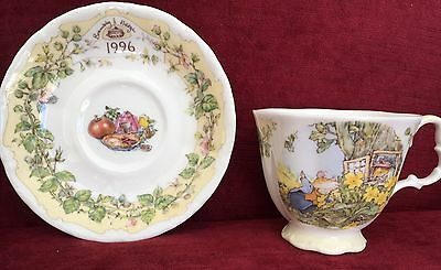 Royal Doulton Brambly Hedge Cup And Saucer - 1996
