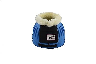 Over-Trot Sky Blue rubber bell boots with fleece - Large size