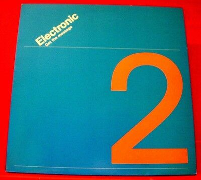 "Electronic Get The Message 12"" PC UK ORIG 1991 Factory New Order/Smiths VINYL"