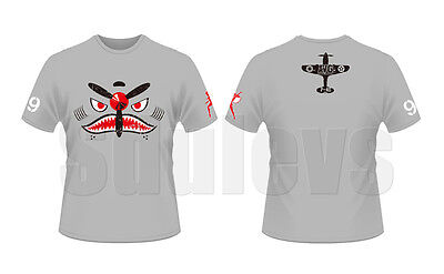 WWII Chinese Air Force flying tigers AVG light Grey T-shirt