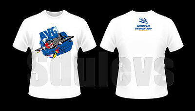 WWII Chinese Air Force flying tigers AVG P40 T-shirt