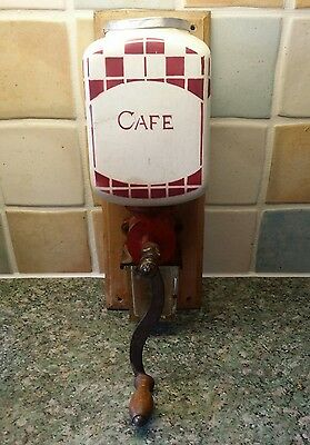 RARE FRENCH VINTAGE WALL MOUNTED COFFEE GRINDER CIRCA 30's-50's