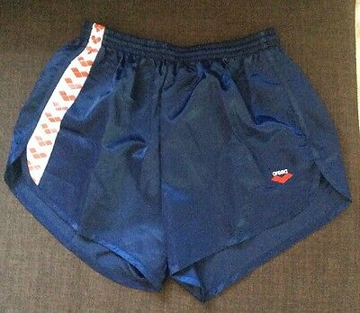 ARENA 80s Vintage Shorts Nylon Sports Glanz Retro Shiny