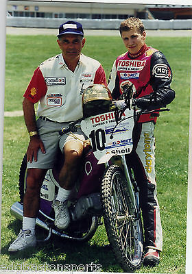 HAND SIGNED Photo of a Young Rider??? with Ivan Mauger