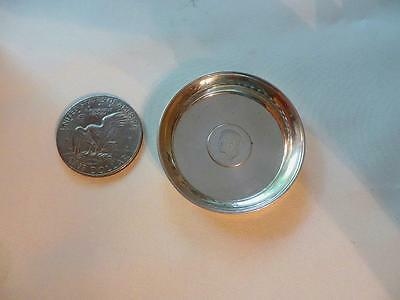 Portugal, 1910 Silver 100 Reis Coin Embedded In Older Silver Dish, Free USA Ship