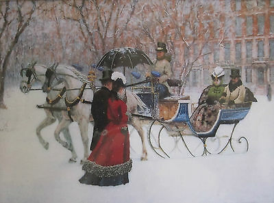"""Winter Impressions Crewel Kit 11070 Sunset Dimensions Alan Maley 16 x 12"""" Open"""