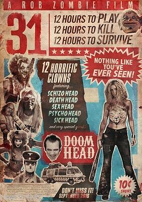 31 A Rob Zombie Film Horror Movie Poster A6+A4+A3+Framed+Super A3 Print Stunning