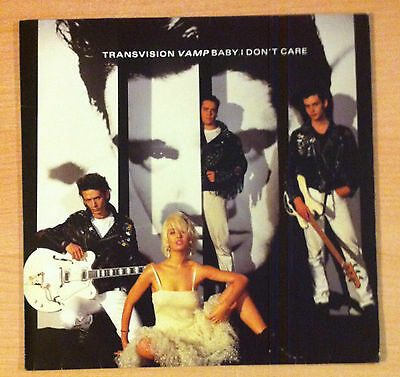 "TRANSVISION VAMP    ‎"" Baby I Don't Care "" - Vinyl maxi 12""   -   1989 Germany"