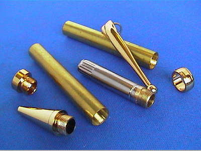 Woodturning Pen Kits - Threaded/screw together parts -  Gold or Chrome NEW!!