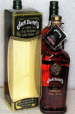 JACK DANIELS ♦ GOLD MEDAL ♦ 1905 With Box & Tag ♦ 1 x 1Liter ♦ Opportunity♦ RARE