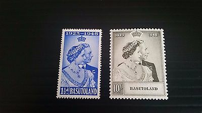 Basutoland 1948 Sg 36-37 Royal Silver Wedding Mnh
