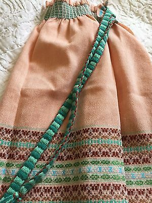 Stunning Vintage Canadian Hand Woven Apron