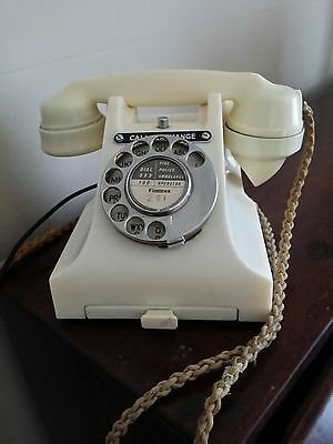 Rare Exceptional Vintage 1956 Ivory Bakelite Working Telephone Model 312