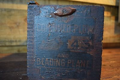 Antique Stanley # 45  Box Woodworking Old Tools