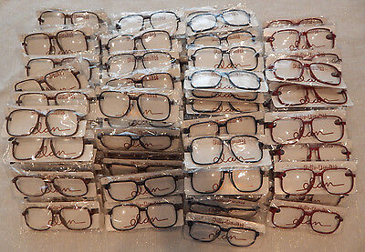 a4bff806e56 Vintage 100 Pc. Elan   606 Carbon Assorted 56 14 Eyeglass Frame Lot NOS