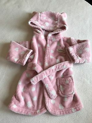 Baby Girls Clothes 3-6 Months  - Fleece Robe  Dressing Gown
