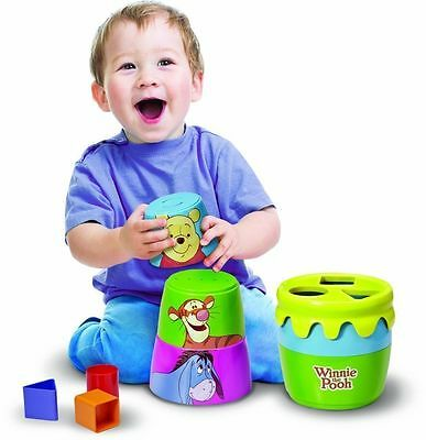 Tomy Winnie The Pooh Stack Pour Post-N-Play Stack Cups Infant Baby Activity Toy