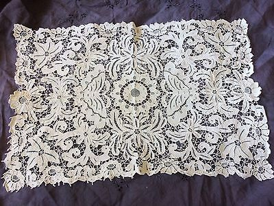 Antique Doily Tea Tray Mat Wedding Runner Art Nouveau Table Decor Butterflies