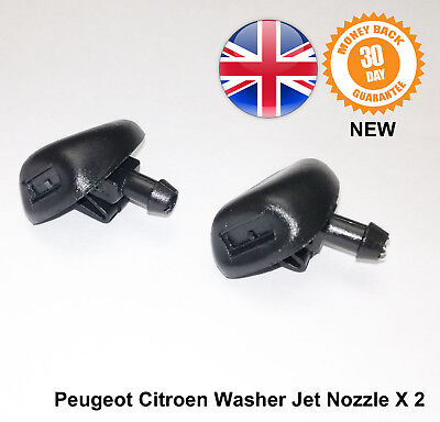 Peugeot 206 Windscreen Wiper Washer Jet Jets Nozzle Mist Type 6438AV New X 2