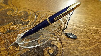 NOS New Rare Alfred Dunhill AD2000 Blue w//Gold Ballpoint Pen DNY-240 NEVER USED