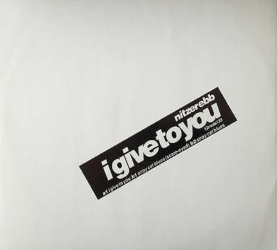 """Nitzer Ebb I Give To You 12"""" Promo Mute Records"""