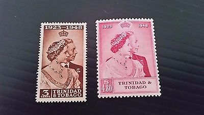 Trinidad And Tobago 1948 Sg 259-260 Royal Silver Wedding Mnh
