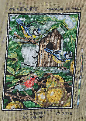 For Mountng & Framing Finished Needlepoint - Birds - LES OISEAUX DU JARDIN