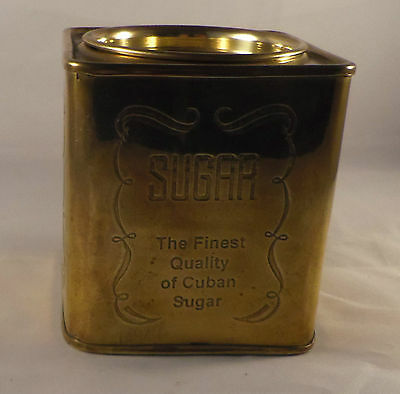 Vintage Caddy No 3 - Silver plated brass square sugar canister
