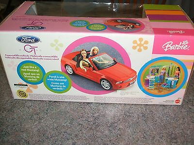 BARBIE GT FORD MUSTANG Convertible vehicle RARE new in original box