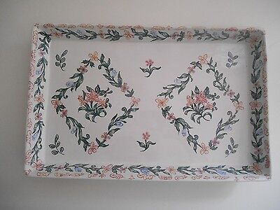 Portugal Hand Painted NUMBERED Pottery Serving / Dresser/Vanity Tray Nora Fenton
