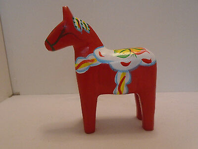 Swedish Red Dala Wooden Horse Sweden