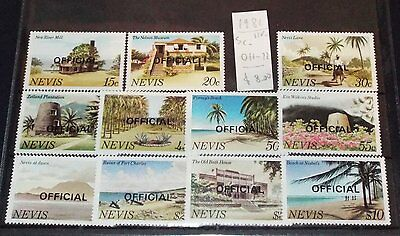 NEVIS  - 1981  : Official  - 11 val.  -  MNH   **