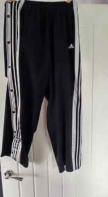 Vintage 90s Adidas Popper Tracksuit Bottoms Pants Kim Kardashian Size Medium