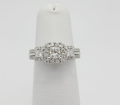 Vera Wang LOVE 1CT Princess Cut Diamond Engagement Wedding Ring 14K White Gold