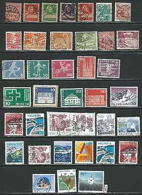 #7108 SWITZERLAND Lot of Used Stamps Combine Shipping