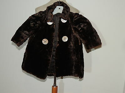 Victorian Sheared Fur toddlers Coat / Great for Dolls