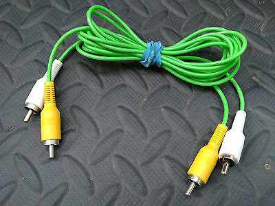 4' ft. Fisher Price Smart Cycle REPLACEMENT A/V 2 Green CORD Cable Wire Bike-TV