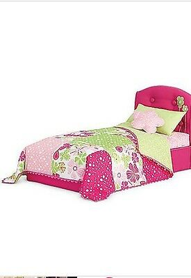 American Girl BLOOM Pink Doll Bed and Bedding - Full Set